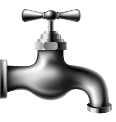 Metallic water tap vector image