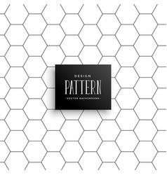 minimal hexagonal line pattern background vector image