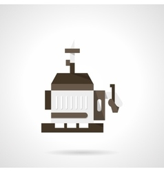 Mobile power generator flat design icon vector