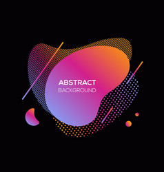 modern futuristic cover element vector image