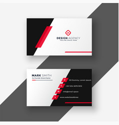 Modern red business card template vector