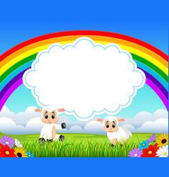 Nature view with the cloud board blank space vector