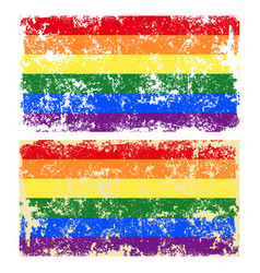 Old scratched lgbt flag vector