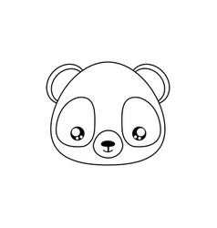 Panda drawing face vector