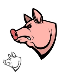 Pig head design element vector