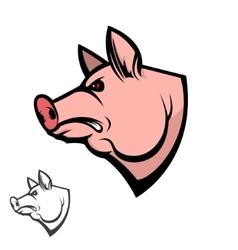 Pig head Design element vector