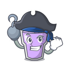 Pirate berry smoothie character cartoon vector