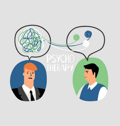 Psychotherapy concept vector