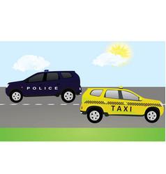 public road transportation vector image