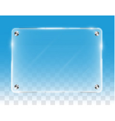 real transparent shining wall acrylic board vector image