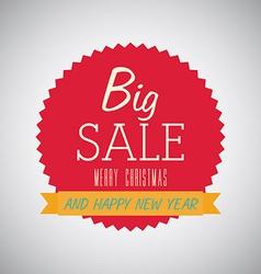 sale christmas design vector image