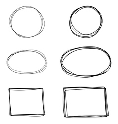 Set of hand drawn square frames vector
