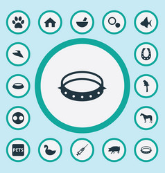Set of simple wild icons vector
