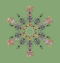 Snowflake ornamental pattern snowflakes pattern vector