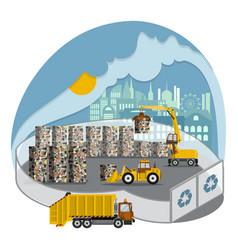 Solid-waste management storage garbage blocks vector