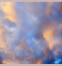 sunset background blue sky with orange clouds and vector image