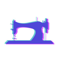 tailor logo sewing machine overlap colors vector image