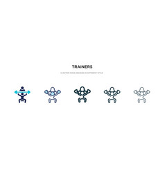 Trainers icon in different style two colored and vector