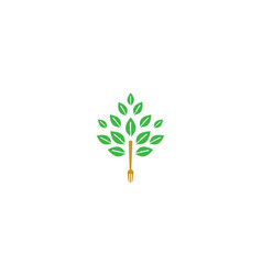 tree fork icon logo vector image