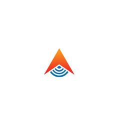 triangle signal technology logo vector image