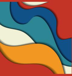 vibrant multicolored paper cut background vector image