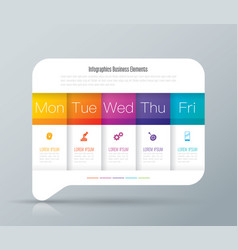 weekly planner monday - friday infographics design vector image