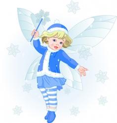 winter baby fairy vector image