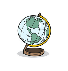 World model on a white background vector