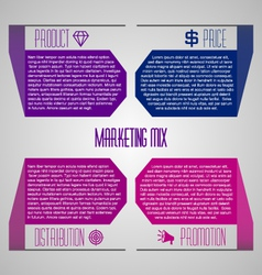 Editable modern template - marketing mix 4P vector image vector image