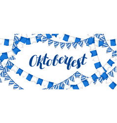 garland with flags oktoberfest beer festival vector image vector image