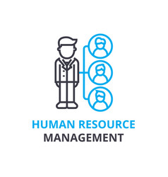 human resource management concept outline icon vector image vector image