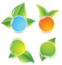 leafy icons vector image vector image
