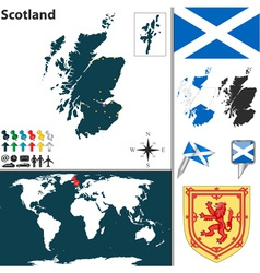 Scotland map world vector image