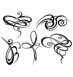 Set of various art elements vector image