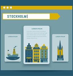 Stockholm set of elements for design vector