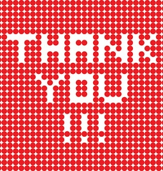 thank you dots vector image vector image