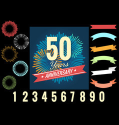 anniversary celebration logo elements vector image