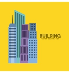 buildings cityscape skyline icon vector image vector image