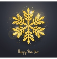 Christmas New Year greeting card with vector image