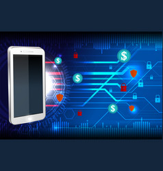 Cyber security mobile vector