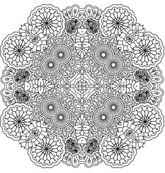 floral outline decorative element vector image vector image