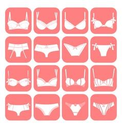 lingerie icons vector image vector image