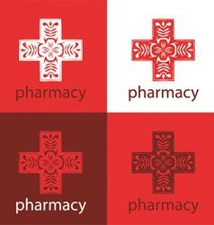 red medicine logo vector image