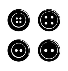 Set of simple sewing buttons icon isolated on vector image vector image