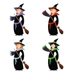 Set of witch women vector image