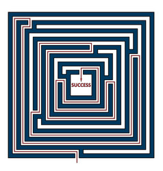 square labyrinth vector image