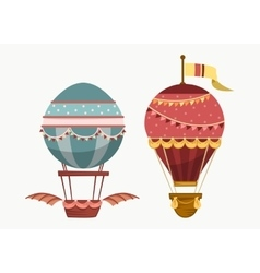 Balloon air travel flying transport vector image vector image