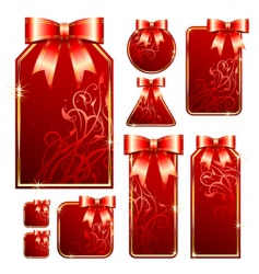 gift tags vector image vector image
