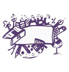 School frame doodle funny vector image vector image