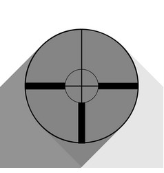 sight sign black icon with vector image